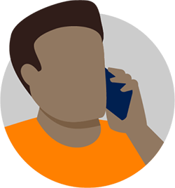 illustration of man on phone
