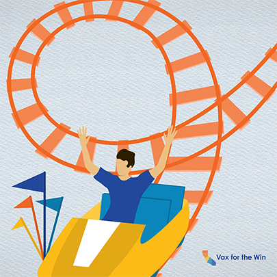 Illustration of a man on a rollercoaster