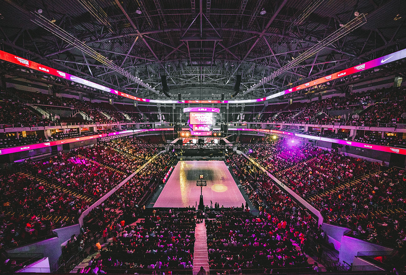 Photo of the Staples Center in Los Angeles