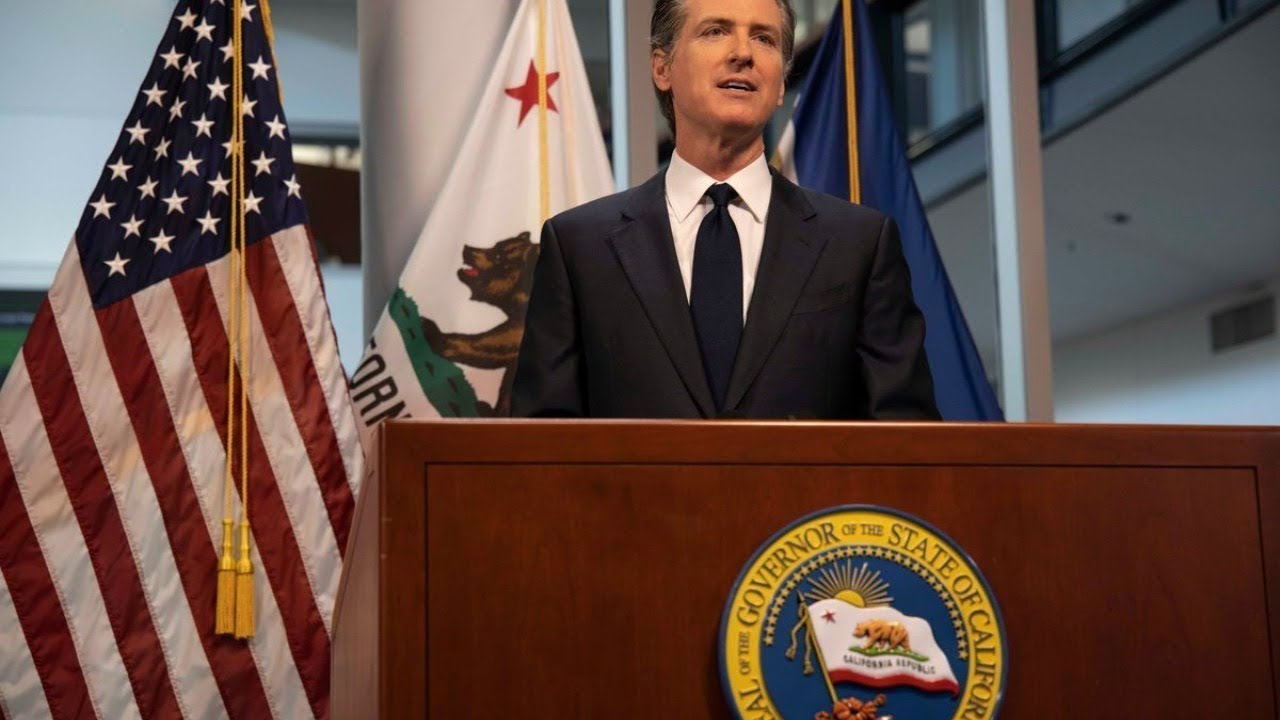 Press conference with CA Gov. Gavin Newsom